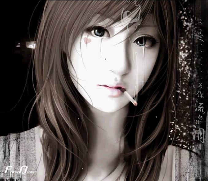 qq落泪玫瑰美女头像