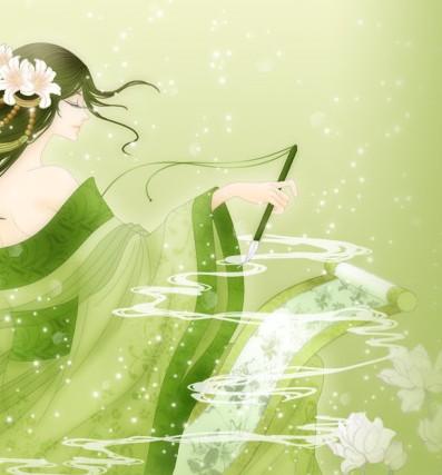 说话的女子是一袭白衣,长发飞扬,(长飞轻扬,两个都可以)身材高挑,淡淡图片