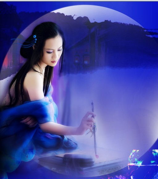 原创:七律·秋怀(新韵、插图)——和墨染心湖博友 - 芳  草  美  人 - 芳 草 美 人