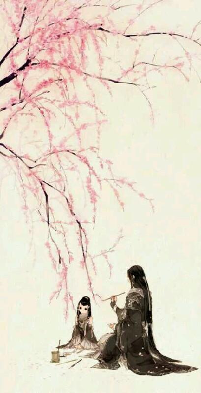 羽琼花手绘