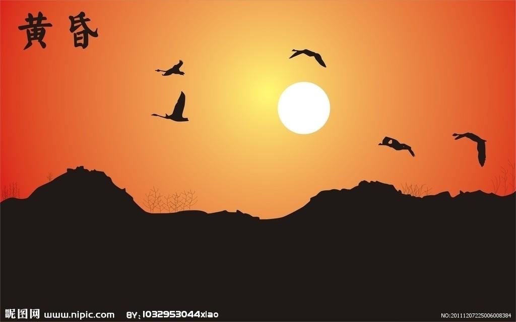 树林中的几声雁鸣为春天的黄昏加上了美妙的和声,几颗星星在夕阳的