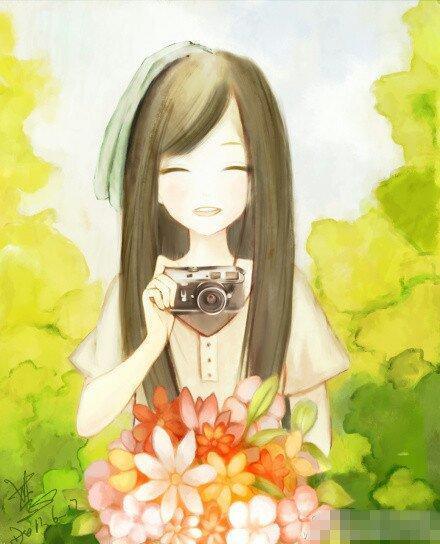 女孩黑白手绘背影抑郁
