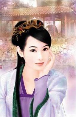 手绘古代美女图片妃嫔