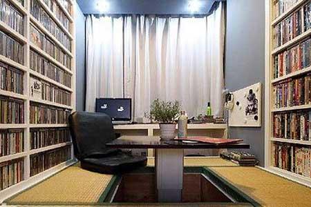 树木型书架室内设计