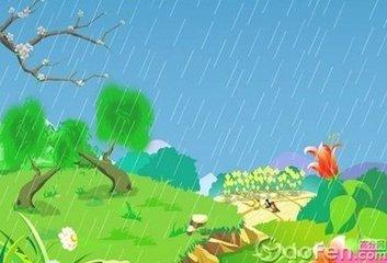 春雨图简笔画步骤图