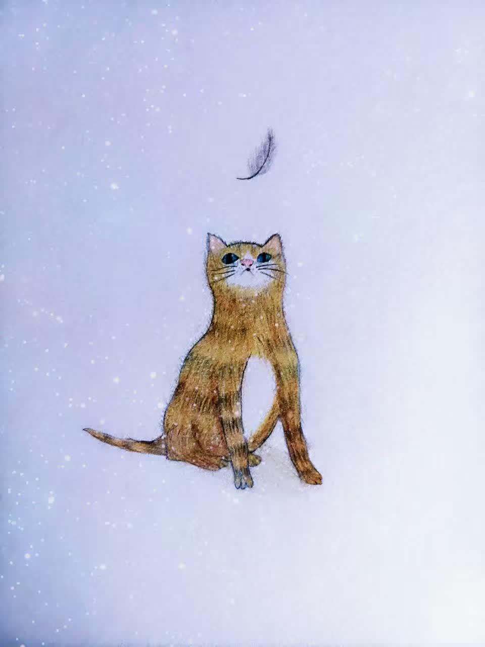 神笔马良的故事你一定不陌生吧?然而,当有一天,这个故事变成了现实       一、初见    喵呜    我正斜躺在床上,捧着我心爱的画作发呆,忽然,一声轻柔的叫声把我惊醒。我循声望 去,只见床边蹲坐着一只可爱的小花猫,浑身鹅黄色的绒毛,脸上和尾巴上还有着棕色的花纹,简直跟我画上的一模一样!    我吃惊地张大了嘴巴,下意识地瞥了眼手中的画。咦?画上的猫咪怎么不见了?难道我又把目光转向眼前这只小花猫,上上下下、仔仔细细地打量着它。它也瞪着它那双黑亮黑亮、黑珍珠般的眼睛,一脸乖巧地望着我,那