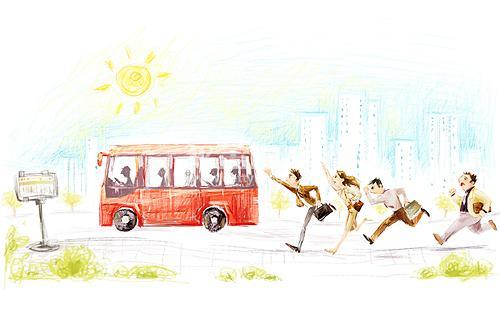 【晓荷*人间百态】三路公交车(征文·小说)