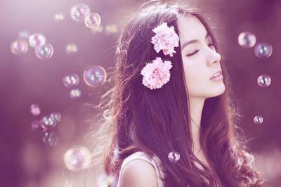 紫色 清新 背景 唯美爱情