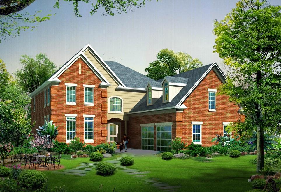 别墅型房顶钢架结构示意图