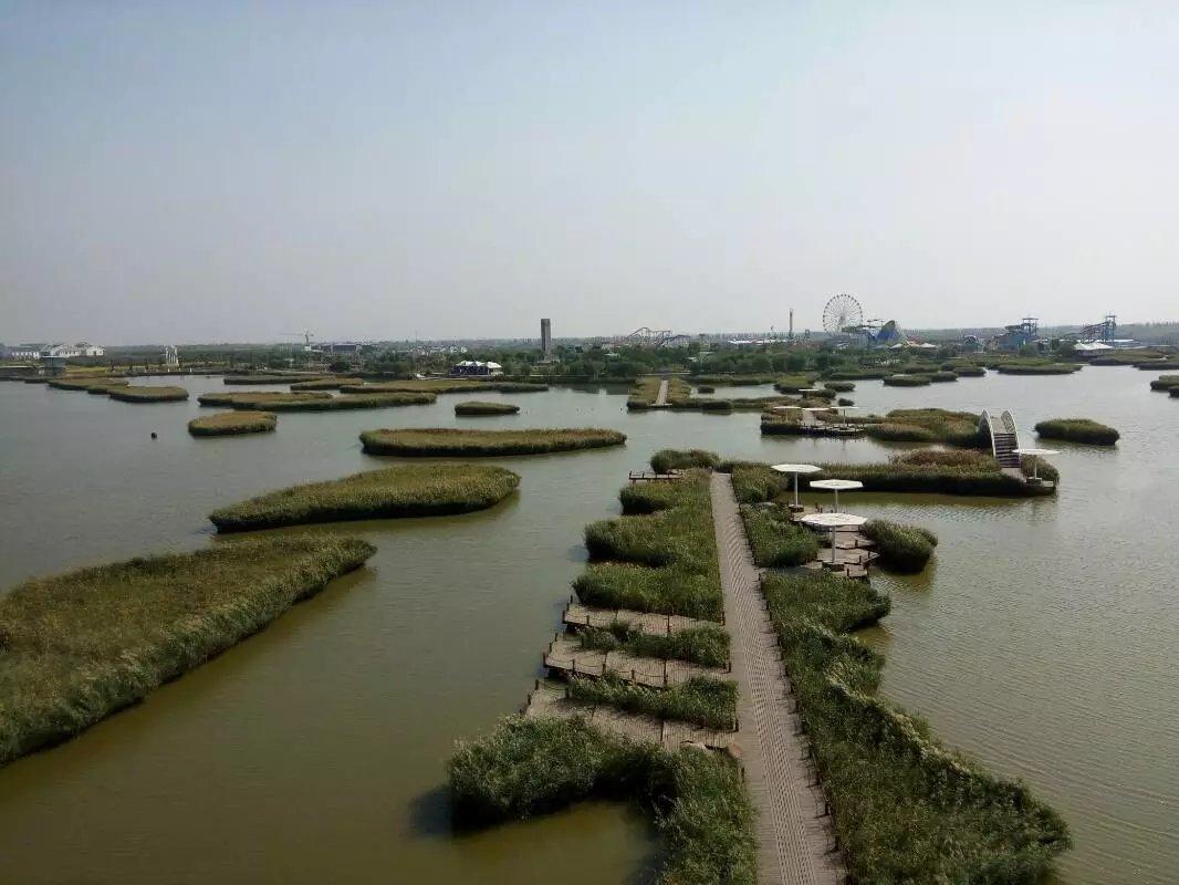 城在水中,洰淀雄起,苇溪连片,风景如画,宛如江南.