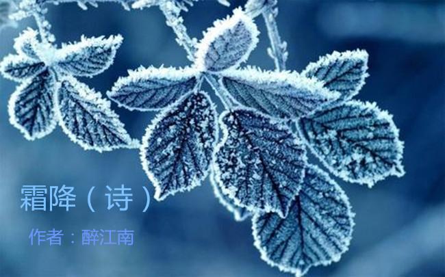 【八一】霜降(外四首·家园)