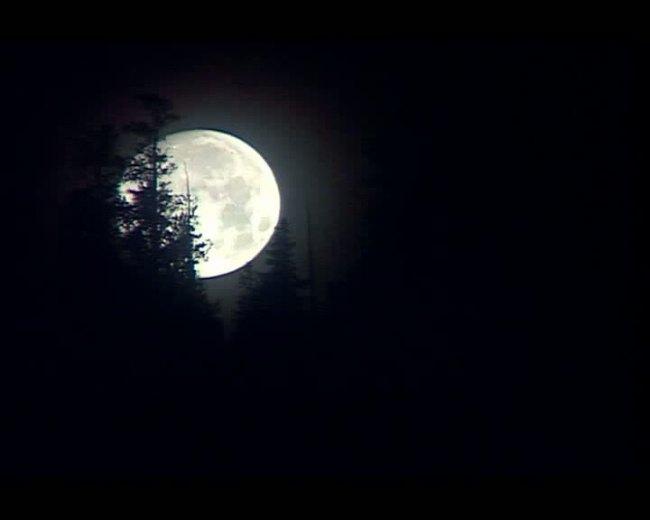 水墨古风月亮背景图