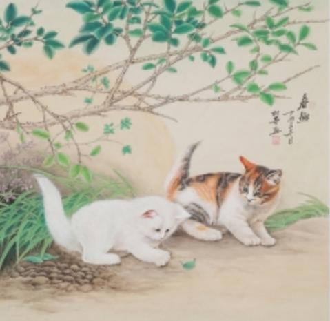 七绝·猫趣(古韵外六首·家园)