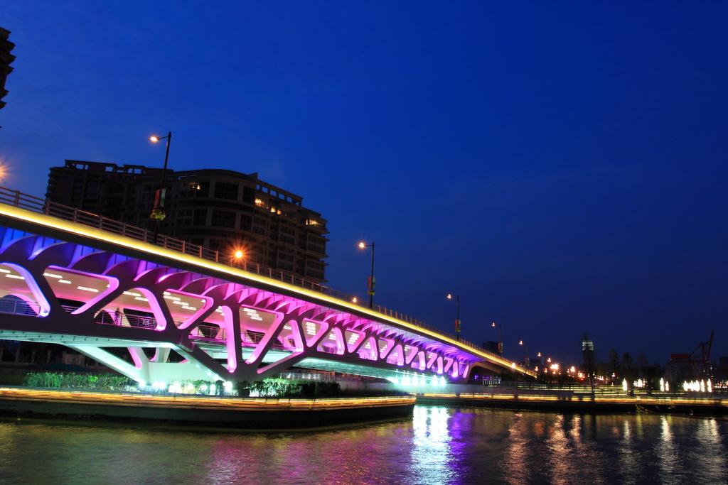 壁纸 大桥 桥 桥梁 夜景 1024_683