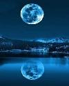 水里的月亮...